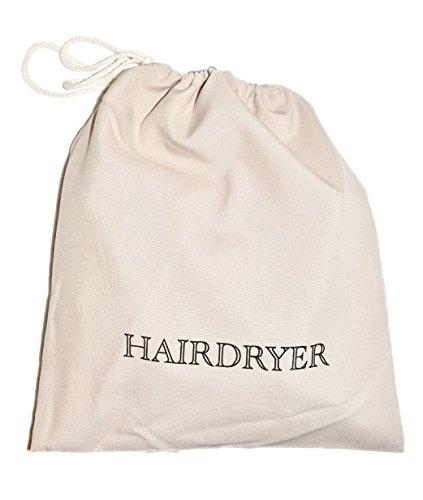 "Hilton Hampton Inn Hotels Exclusive Hair Blow Dryer Corded Travel Storage Bag 12""x12"""
