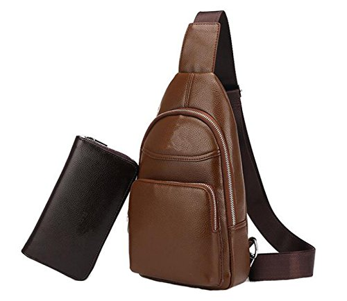 Bolso Al De Moda Aire Libre Bag Brown Corset Messenger Casual Hombro Hombre Bolsa Mancuernas xqSI81B