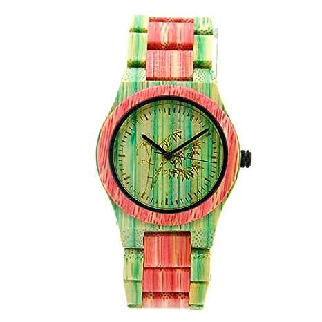 Amazon.com: Bracelet Womens Wooden Watches Women Relojes De Madera Mujer Styles Art Luxury Wood Watch Pink: Beauty