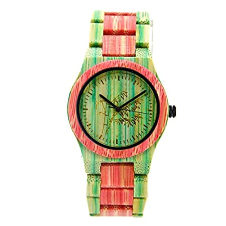 Amazon.com: Bracelet Womens Wooden Watches Women Relojes De Madera Mujer Styles Art Luxury Wood Watch Pink: Beauty