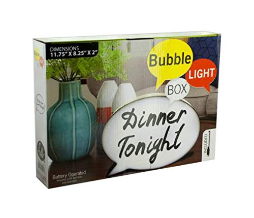Bubble Light Box Message Board with Marker