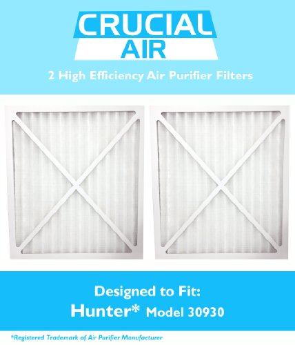 2 Hunter 30930 Air Purifier Filter, Fits Hunter Models: 30200, 30201, 30205, 30250, 30253, 30255, 30256, 30350, 30374, 30375, 30377, 30380, 30390, 37255 & 37375, Designed & Engineered by Crucial Air
