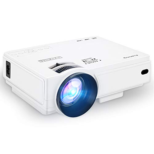 AuKing Mini Projector 2400 Lumens Portable Video-Projector,55000 Hours Multimedia Home Theater Movie Projector 1080P Support,Compatible with HDMI,VGA,USB,AV,Laptop,Smartphone