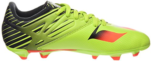 adidas Messi 15.3 J, Botas de Fútbol Unisex Bebé Verde / Rojo / Negro (Seliso / Rojsol / Negbas)