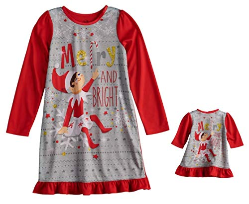The Elf on The Shelf Scout Elf Merry and Bright Dorm Nightgown & Doll Gown - Girls (6)