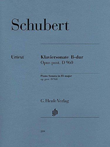Piano Sonata B flat major  D 960 - piano - (HN 399) (Schubert Piano Music Sheet)