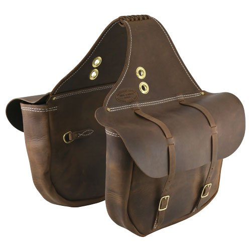 Outfitters Supply Handcrafted ''Vintage Bomber'' Leather Saddlebags