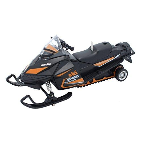 Multifit 1:32 Scale Die-cast Music Snowmobile Lighting Ski-Sport Pullback Racer Model Car(Orange) (Ski Mobile)