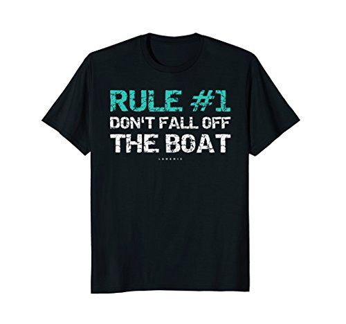Fall Off T-shirt (Funny Cruise Shirts - Rule #1 Don't Fall Off The Boat Shirt)