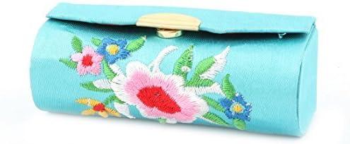 Padrão DealMux Lady bordado floral Batom Lip Chap armazenamento caso da vara de jóias titular caixa azul: Amazon.es: Salud y cuidado personal