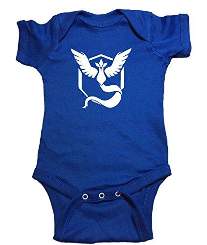 "Price comparison product image Pokemon One Piece ""Team Mystic Pokeball Pokemon Go"" Baby Bodysuit (12 Month,  Blue)"