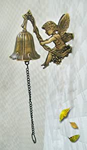 Solid Brass Decorative Angel Wall-mounted Bell