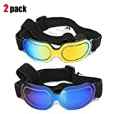 2 Pack Dog Sunglasses Eye Wear UV Protection Goggles Cat Glasses Pet Colorful Sunglasses