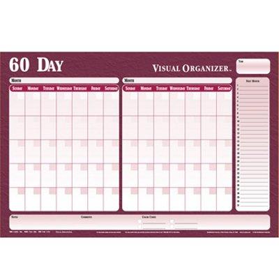 (Flexible Undated Erasable 60-Day Planner with Black Marker, 36w x 24h (VIOE202))