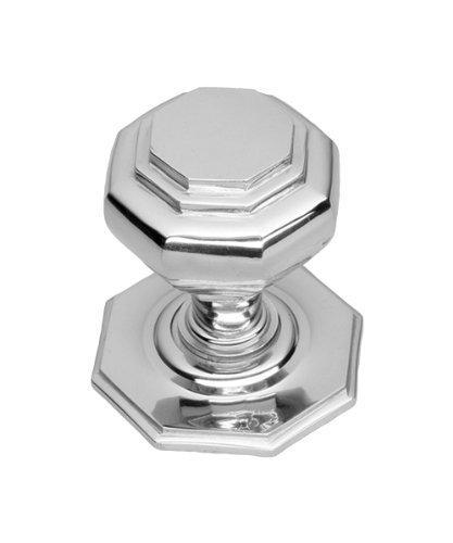Solid Heavy Cast Polished Chrome Octagonal Centre Door Knob Large ...