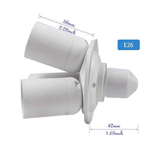 8T8 3 in 1 Light Socket Adapter Splitter, E26 E27 Lamp Holder Converter for Photo Studio Photography Home Indoor Lighting (Studio_3) by 8T8 (Image #4)