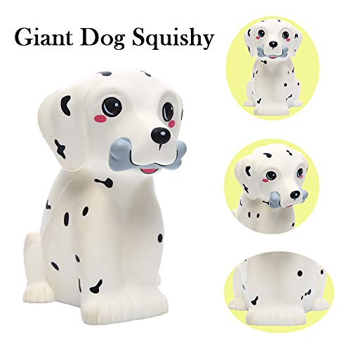 Sinofun 12 Inch Giant Dalmatian Dog Squishy, Large Puppy Animal Scented Squishies Package, Cute Panda Slow Rising Keychain, Soft Stress Relief Toys, Fun Party Favor/Birthday Gifts for Boys/Girls/Kids by Sinofun (Image #1)