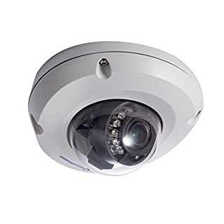 GeoVision GV-EDR2700-2F 2MP 3.8mm H.265 Super Low Lux WDR Pro IR Mini Fixed Rugged IP Dome, White, 2.47x4.49x4.49 inches