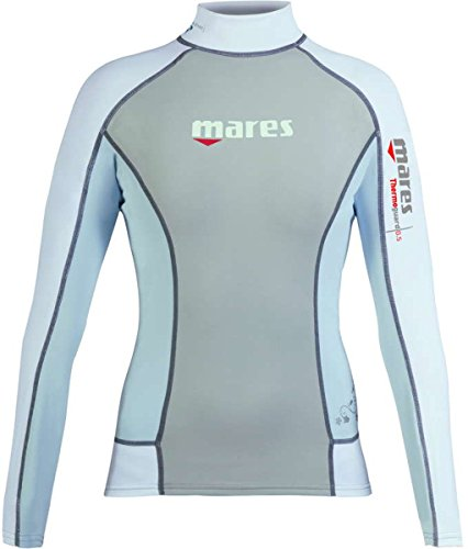 Mares Scuba Diving Thermo Guard 0.5 Long Sleeve She Dives-Blue Fog-10