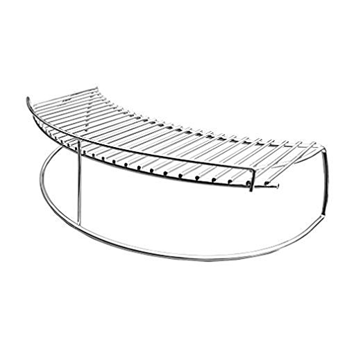 only fire Stainless Steel Warming Cooking Rack Fits for Charcoal Kettle Grills Like Weber,Char-Broil and Ceramic Grills Like Large Big Green Egg,Kamado Joe Classic,Pit Boss K22,Louisiana K22,17 3/4