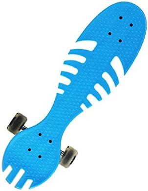22インチバイタリティスケートボード-初心者からプロ向けのスケート-子供と大人向けのショートボード-高弾性PUフラッシュホイール付きのスタイリッシュなボードフィッシュボーンデッキ