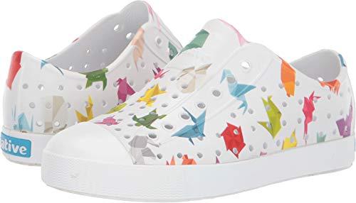 (Native Kids Shoes Unisex Jefferson Print (Little Kid) Shell White/Shell White/Origami 1 M US Little Kid)