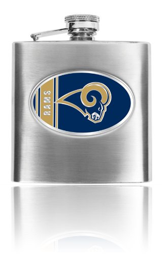 Personalized NFL Los angeles Rams 8oz stainless steel Flask- Free - Louis Steel Flask Stainless Rams