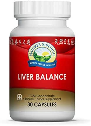 Nature's Sunshine Liver Balance, Chinese Concentrate, 30 Capsules | Blend of Chinese Herbs That Support The Digestive and Nervous Systems While Optimizing Liver Health