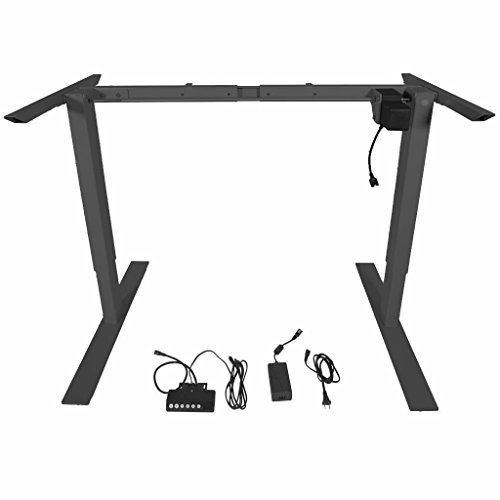 Titan Single Motor Electric Adjustable Height Sit-Stand Standing Desk Frame (Titan Single)