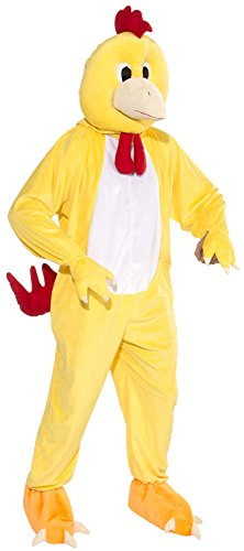 Chicken Mascot Costumes (Forum Novelties Men's Promotional Chicken Mascot Costume, Yellow, One Size)