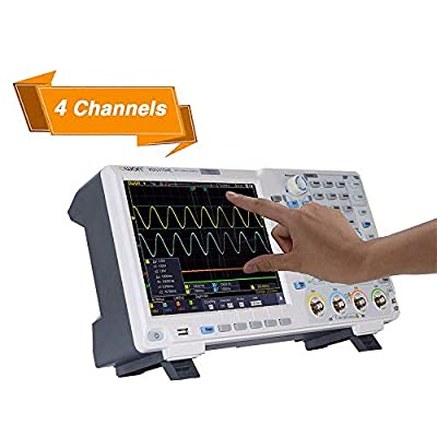 OWON XDS3204E Digital Oscilloscope 200Mhz DSO 4 Ch 1GS/S 8 BITS LCD with Touch Screen Function,45,000 wfms/s Refresh Rate.40M Record/Standard I2C,SPI,RS232 and CAN decoding Plus DMM+AG21+Battery