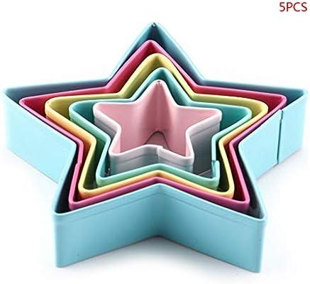 Juego de 5 moldes de acero inoxidable con forma de estrella ...
