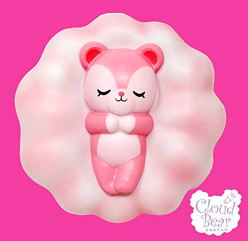 ibloom Slow Rising [Squishy Collection] Cloud Bear Strawberry [Scented] Animal Squishy Kids Cute Adorable Doll Stress Relief Toy Decorative Props [Jumbo Size] / Fannie