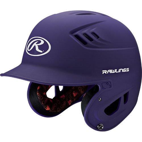 Rawlings R16 Series Metallic Batting Helmet, Purple, Senior
