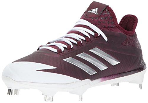 adidas Performance Men's Adizero Afterburner 4 Baseball Shoe, Maroon, Silver Met, Ftwr White, 11 M US