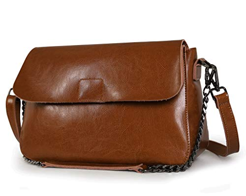 Ienjoy Or K8605b Shoulder Leather body Bag Cow Cross rwIr8Zq