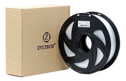 ZYLtech 3D Printer Filament PETG 1.75 mm 1 kg/2.2 lbs Clear Transparent