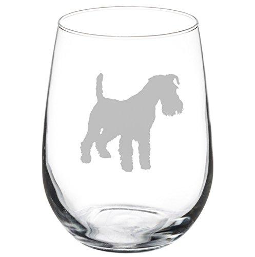 Wine Glass Goblet Miniature Schnauzer (17 oz Stemless)