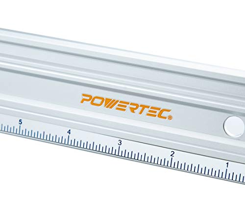POWERTEC 71332 Anodized Aluminum Straight Edge Ruler | 38 Inch | Metal Straightedge Machined Flat to Within 0.001