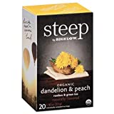 Bigelow 17715 Steep Tea, Dandelion & Peach, 1.18 Oz Tea Bag, 20/Box