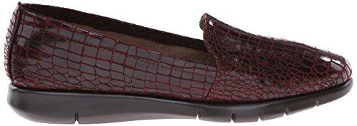 Aërosolen Dames Instappers Loafer Donkerrode Krokodil