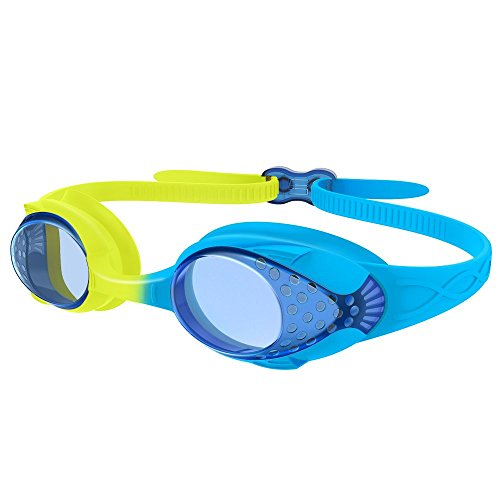 OutdoorMaster Kids Swimming Goggles - Fun Fish Style Children (Age 4-12) Leakproof Design, Shatterproof Anti-Fog Lens & Quick Adjustment Clasp - 100% UV Protection