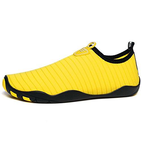 all'aperto Moda nuoto scarpe spessa trekking scarpe di fondo giallo spesso comodo da paio da ShangYi fiume traspirante x8W0wndTqq