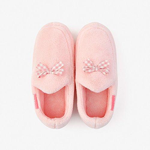 Hogar para otoño Rosa2 antideslizante paquete zapatos Zapatillas estancia con parejas DogHaccd zapatillas grueso femenino de algodón cálido invierno F45WxX