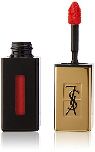 Yves Saint Laurent Rouge Pur Couture Vernis A Levres Glossy Stain Lip Gloss, No. 8 Orange De Chine, 0.2 Ounce