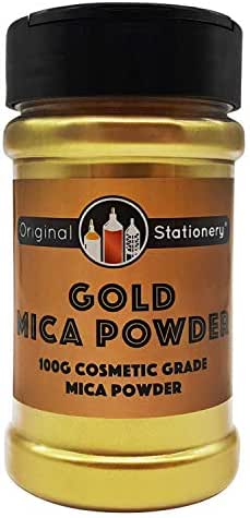 Mica Powder - 3.5 ounces / 100 grams [HUGE x3-5 THE SIZE OF OUR COMPETITORS] Cosmetic Grade – True Colors – Beautiful Mica for Slime, Soap Making, Bath Bombs, Make-up, Nails (Gold)