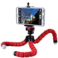 Fashions Store ST_35 360 Degrees Flexible Light-Weight Octopus Style Tripod with Great Holding, Monopod Adapter and Holder Clip for All Action Camera, DSLR and Smartphone Device (Assorted Colour)