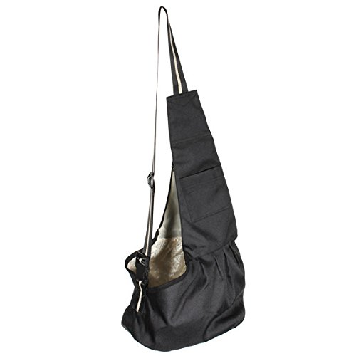 New Black Oxford Cloth Sling Pet Dog Cat Carrier Bag S (Cloth Dryer Rock compare prices)