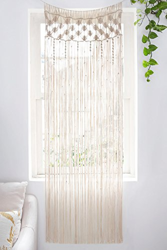 Mkono Macrame Curtain Wall Hanging Boho Wedding Backdrop, 29' W x 80' L