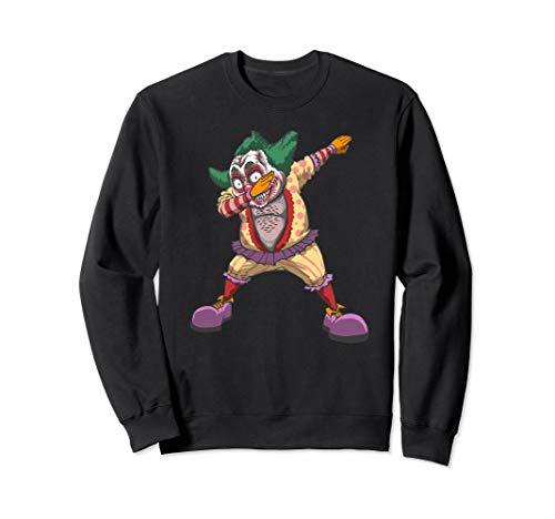 Fat Hairy Clown Sweatshirt, Creepy Halloween Clown Design